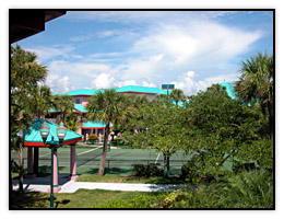 Tennis court near Port Canaveral